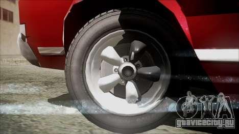 Sabre Turbocharged для GTA San Andreas вид сзади слева