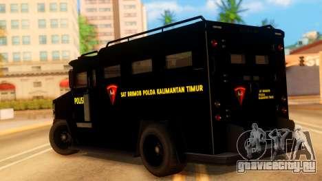 Sat Brimob Skin Enforcer from GTA 5 для GTA San Andreas вид слева