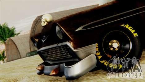 Chevrolet Bel Air 1956 Rat Rod Street для GTA San Andreas вид сзади