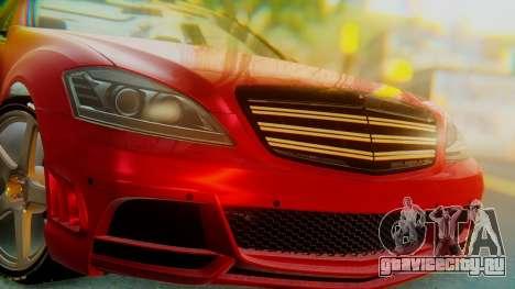 Mercedes-Benz S65 для GTA San Andreas вид сзади