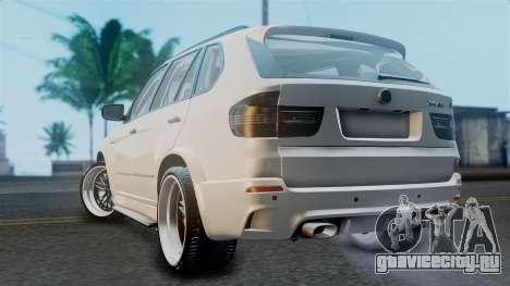 BMW X5M 2014 E-Tuning для GTA San Andreas вид слева