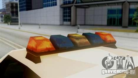 SAPD Cruiser для GTA San Andreas вид сзади