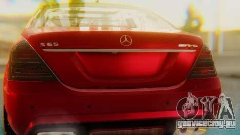 Mercedes-Benz S65 для GTA San Andreas вид изнутри