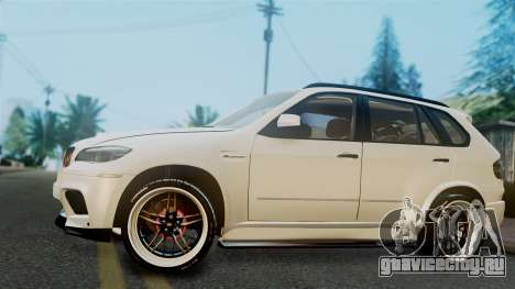BMW X5M 2014 E-Tuning для GTA San Andreas вид сзади слева