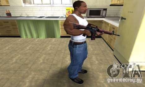 Brown Jungles M4 для GTA San Andreas третий скриншот