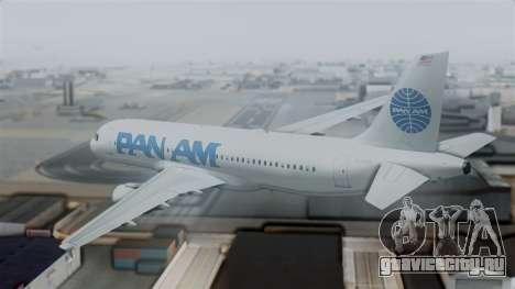 Airbus A320-200 Pan American World Airlines для GTA San Andreas вид слева