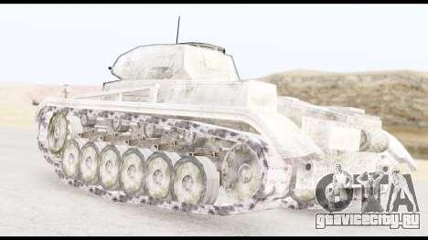 Panzerkampwagen II Snow для GTA San Andreas вид слева