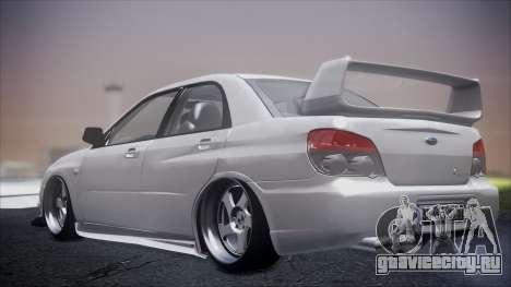 Subaru Impreza для GTA San Andreas вид сзади слева