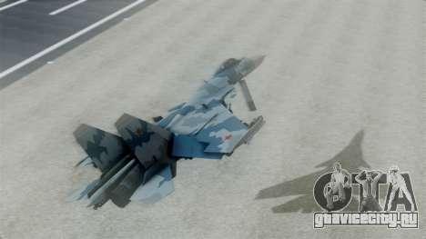 Sukhoi SU-33 Flanker-D для GTA San Andreas вид сзади слева