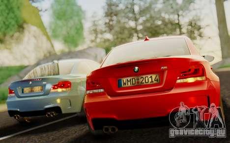 BMW 1M E82 для GTA San Andreas вид сзади слева