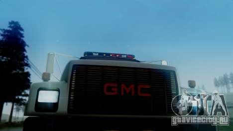 GMC Topkick Towtruck для GTA San Andreas вид сзади слева