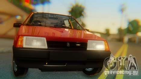 ВАЗ 2109 Сток для GTA San Andreas вид сзади