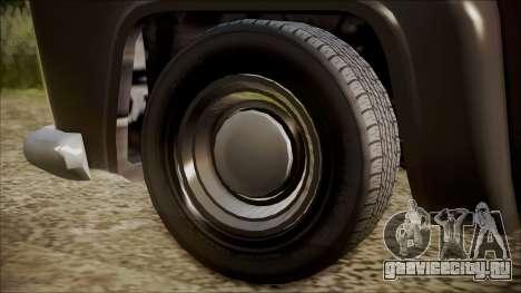 GTA 5 Vapid Slamvan Pickup IVF для GTA San Andreas вид сзади слева