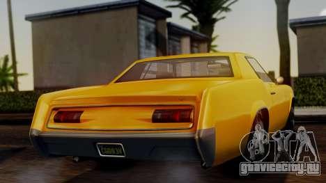 GTA 5 Albany Virgo IVF для GTA San Andreas вид сзади слева