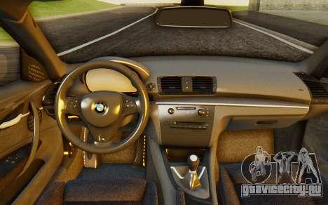 BMW 1M E82 для GTA San Andreas вид сзади