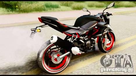 Kawasaki Z250SL Red для GTA San Andreas вид слева
