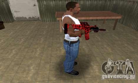 Red Leopard M4 для GTA San Andreas третий скриншот