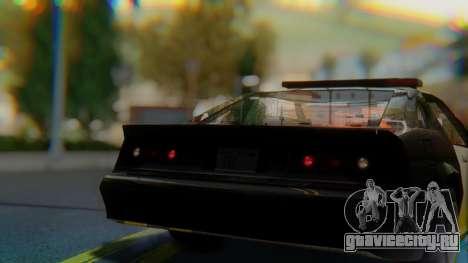 Buffalo Sheriff для GTA San Andreas вид сзади