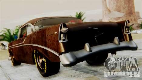 Chevrolet Bel Air 1956 Rat Rod Street для GTA San Andreas вид слева