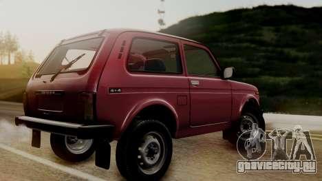 ВАЗ 2121 Нива Сток для GTA San Andreas вид сзади слева