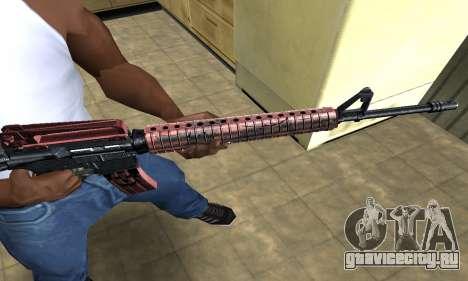 Brown Jungles M4 для GTA San Andreas второй скриншот