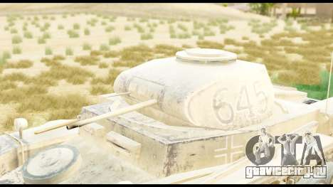 Panzerkampwagen II Desert для GTA San Andreas вид справа