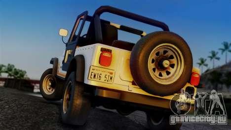 Jeep CJ-7 Renegade 1982 для GTA San Andreas вид слева