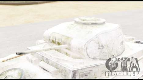 Panzerkampwagen II Snow для GTA San Andreas вид справа