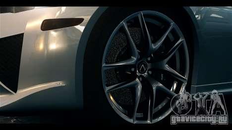 Lexus LF-A 2010 EPM для GTA 4 вид справа