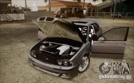BMW M5 E39 E-Design для GTA San Andreas вид сзади
