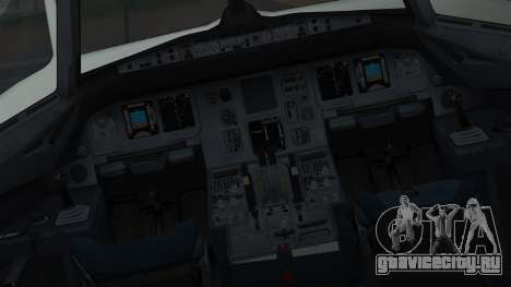 Airbus A320-200 Pan American World Airlines для GTA San Andreas вид изнутри