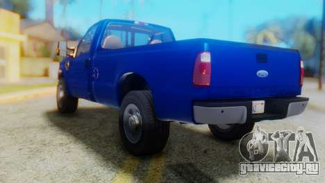 Ford F-350 Super Duty Regular Cab 2008 HQLM для GTA San Andreas вид слева