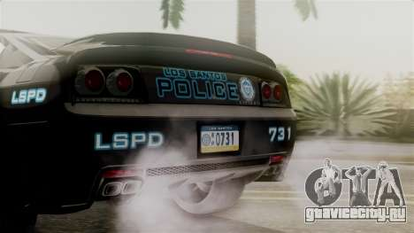 Hunter Citizen from Burnout Paradise Police LS для GTA San Andreas вид изнутри