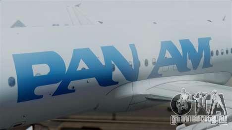 Airbus A320-200 Pan American World Airlines для GTA San Andreas вид справа