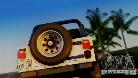 Jeep CJ-7 Renegade 1982 для GTA San Andreas вид справа