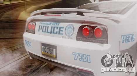 Hunter Citizen from Burnout Paradise v3 для GTA San Andreas вид справа