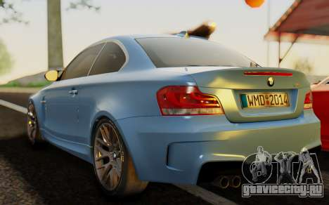 BMW 1M E82 для GTA San Andreas вид слева