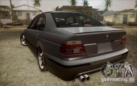 BMW M5 E39 E-Design для GTA San Andreas вид сзади слева