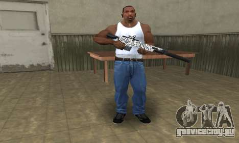 Black Lines Rifle для GTA San Andreas третий скриншот