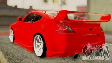 Nissan 370Z для GTA San Andreas вид сзади слева