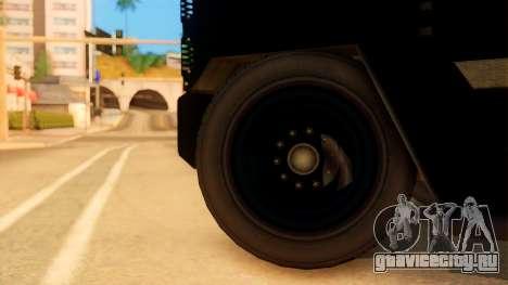Sat Brimob Skin Enforcer from GTA 5 для GTA San Andreas вид сзади слева