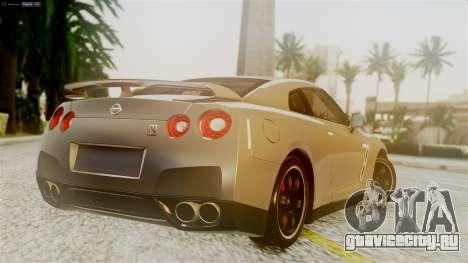 Nissan GT-R R35 для GTA San Andreas вид слева