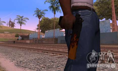 Deagle Flame для GTA San Andreas четвёртый скриншот