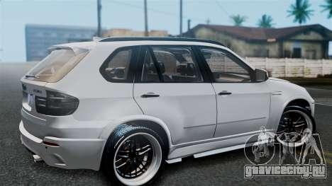 BMW X5M 2014 E-Tuning для GTA San Andreas вид справа
