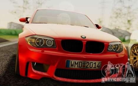 BMW 1M E82 для GTA San Andreas вид справа
