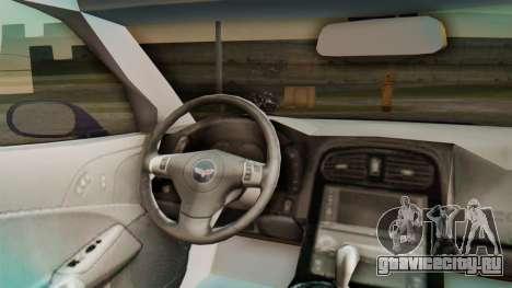 Chevrolet Corvette Sport для GTA San Andreas вид сзади