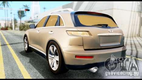 Infiniti FX45 для GTA San Andreas вид слева