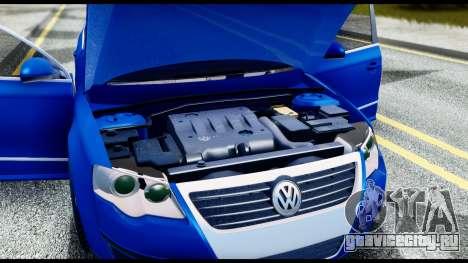 Volkswagen Passat B6 для GTA San Andreas вид изнутри