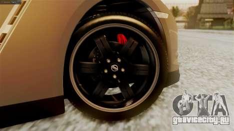 Nissan GT-R R35 для GTA San Andreas вид сзади слева