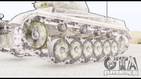 Panzerkampwagen II Snow для GTA San Andreas вид сзади слева